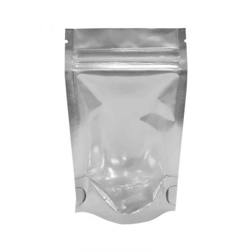 28g stand up pouch black and clear
