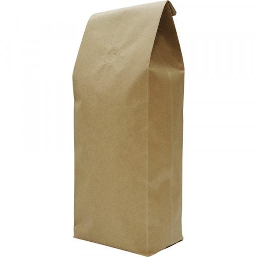500g side gusset bag, natural kraft