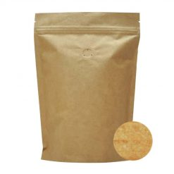 250 stand up pouch non metallic with valve natural kraft