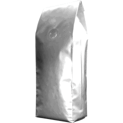 250g side gusset bag silver with valve