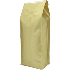 500g side gusset bag gold with valve