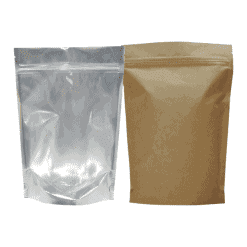 250g kraft and clear doypack