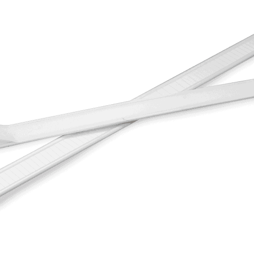 white tin ties for coffee packaging