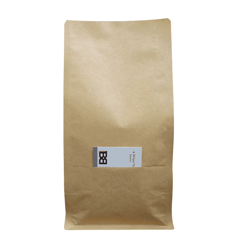 500g kraft bag for coffee with slit and valve
