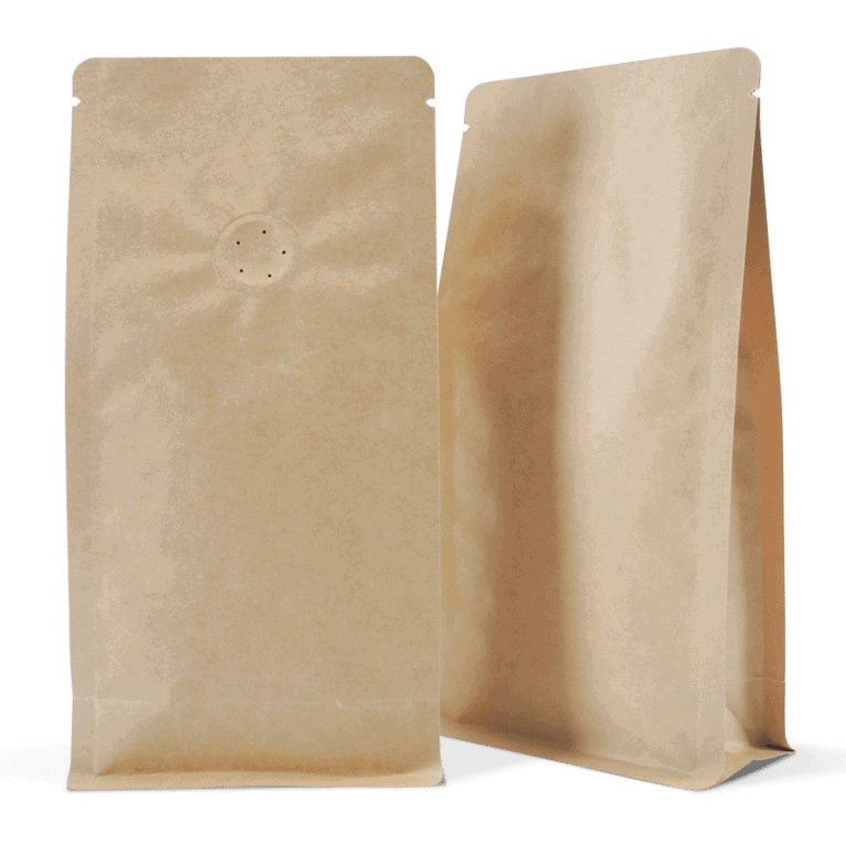 100 Side Gusset Bags with Valve and Tin Tie