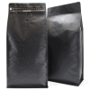 Black 1kg Side Gusset Bags with Valve and Tin Tie