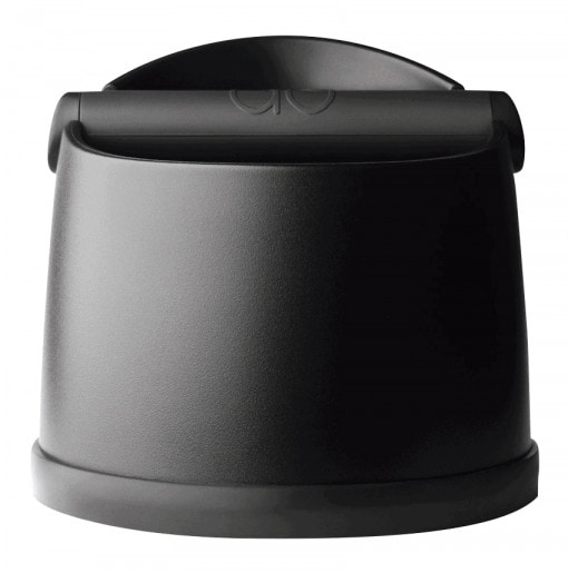 black knockbox for coffee machine front