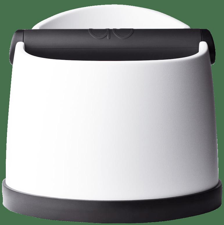 white knockbox for coffee machine